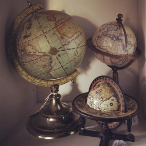 Globes previously sold at Picket Fence Gals in Lindstrom Minnesota