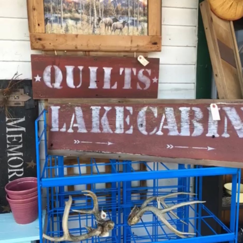 Primative cabin signs previousl sold in Lindstrom Minnesota